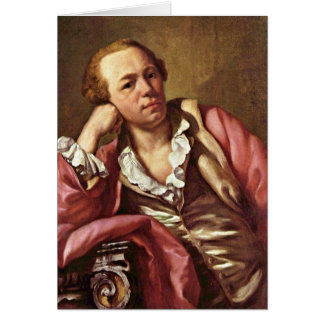 Portrait Of An Architect By Anton Raphael Mengs Greeting Card