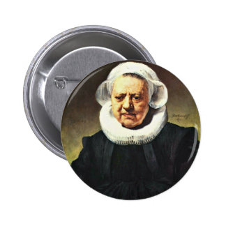 Portrait Of An Eighty-Three Women With A Millstone Pinback Buttons
