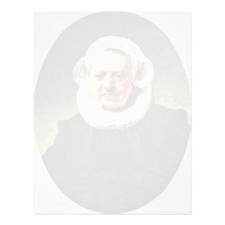 Portrait Of An Eighty-Three Women With A Millstone Letterhead