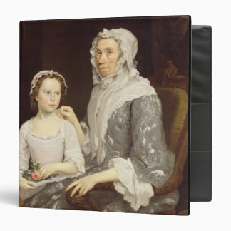 Portrait of an Elderly Lady and a Young Girl (oil 3 Ring Binder
