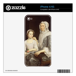 Portrait of an Elderly Lady and a Young Girl (oil Decal For The iPhone 4S