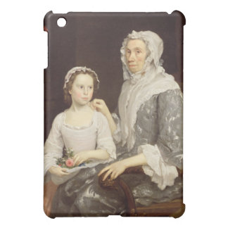 Portrait of an Elderly Lady and a Young Girl (oil iPad Mini Case