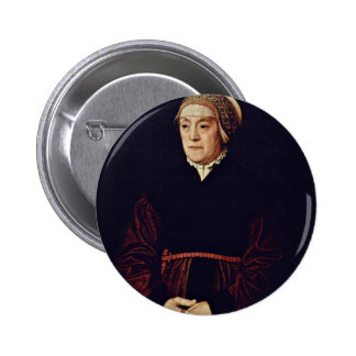 Portrait Of An Elderly Lady By Neufchâtel Nicolas Pinback Buttons