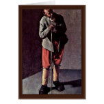 Portrait Of An Elderly Man (Age) By La Tour George Greeting Card