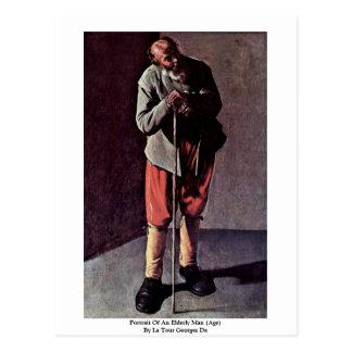 Portrait Of An Elderly Man (Age) By La Tour George Postcard