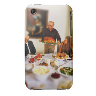 portrait of an elderly man holding a roast iPhone 3 cases