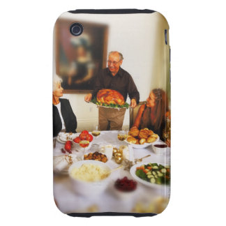 portrait of an elderly man holding a roast iPhone 3 tough covers