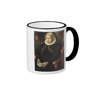 Portrait of an Elderly Woman, 1603 Ringer Coffee Mug