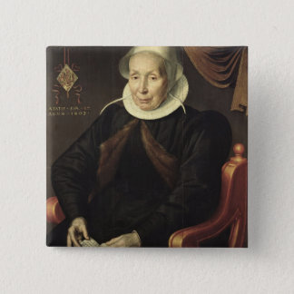 Portrait of an Elderly Woman, 1603 Pinback Button
