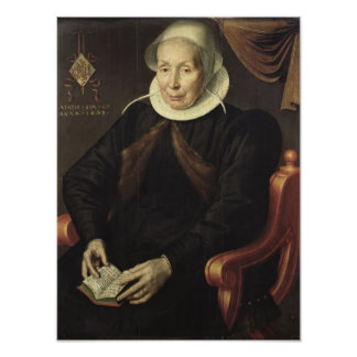 Portrait of an Elderly Woman, 1603 Poster