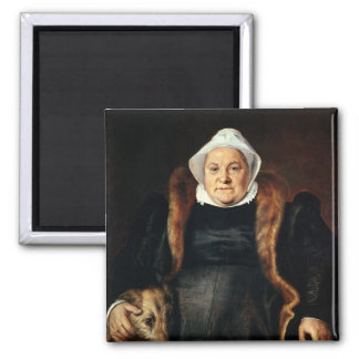 Portrait of an Elderly Woman 2 Inch Square Magnet