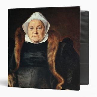Portrait of an Elderly Woman 3 Ring Binder