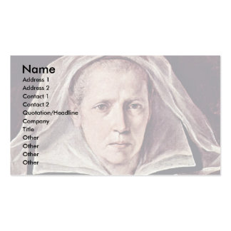 Portrait Of An Elderly Woman By Reni Guido Business Card Template
