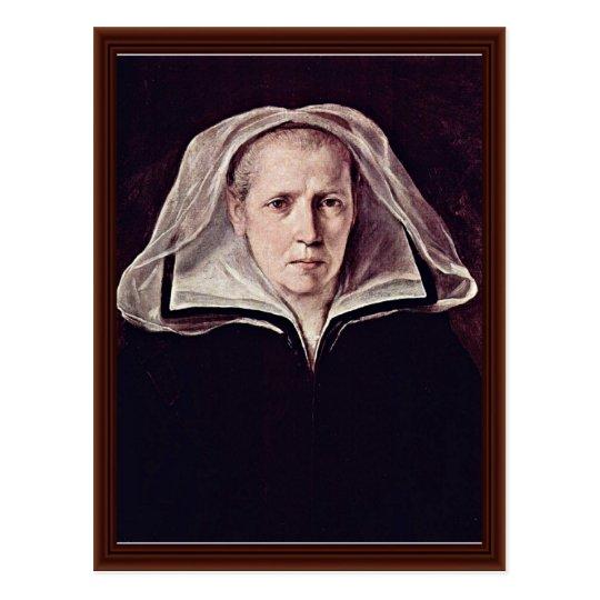 Portrait Of An Elderly Woman By Reni Guido Postcard