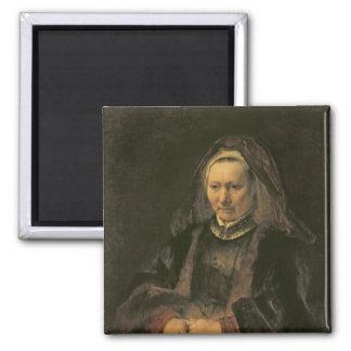 Portrait of an Elderly Woman, c. 1650 2 Inch Square Magnet