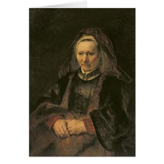 Portrait of an Elderly Woman, c. 1650 Card