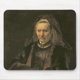 Portrait of an Elderly Woman, c. 1650 Mouse Pad