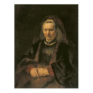 Portrait of an Elderly Woman, c. 1650 Post Cards