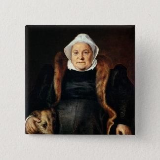 Portrait of an Elderly Woman Pinback Button