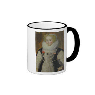 Portrait of an Elizabethan Lady with a Parrot Coffee Mug