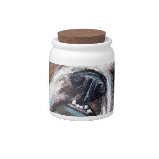 Portrait of an English Bulldog Candy Jars
