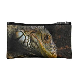 Portrait of an Iguana Makeup Bag