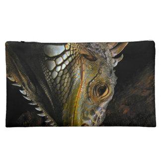 Portrait of an Iguana Makeup Bags
