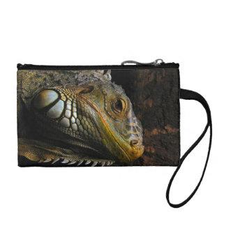 Portrait of an Iguana Change Purse