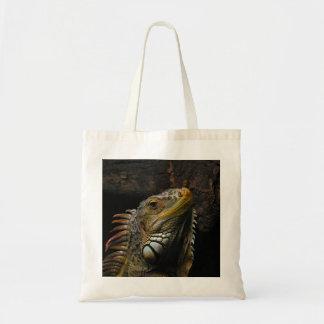 Portrait of an Iguana Canvas Bags