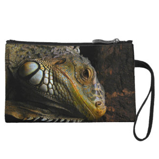 Portrait of an Iguana Wristlet Clutch