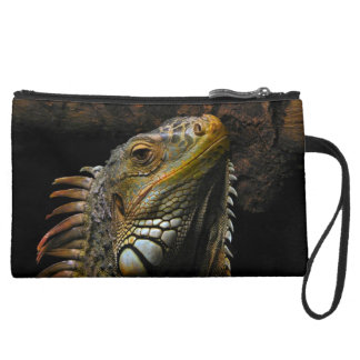 Portrait of an Iguana Wristlet Purses