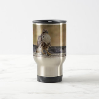 Portrait of an Immature Red Tailed Hawk Travel Mug