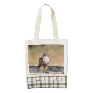 Portrait of an Immature Red Tailed Hawk Zazzle HEART Tote Bag