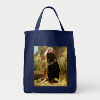 Portrait of an Indian Chief Tote Bag