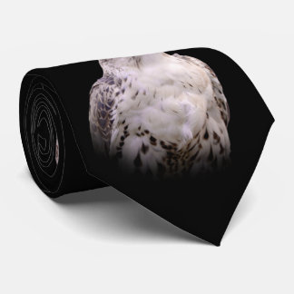 Portrait of an Inquisitive Saker Falcon Tie