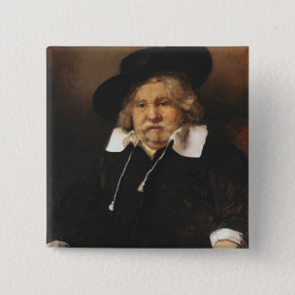 Portrait of an old man, 1667 pinback button