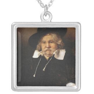 Portrait of an old man, 1667 square pendant necklace