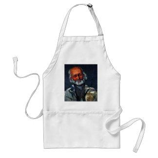 Portrait Of An Old Man By Paul Cézanne Adult Apron