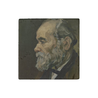 Portrait of an Old Man by Vincent Van Gogh Stone Magnet