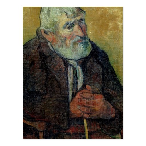 Portrait of an Old Man with a Stick, 1889-90 Postcard