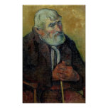 Portrait of an Old Man with a Stick, 1889-90 Print