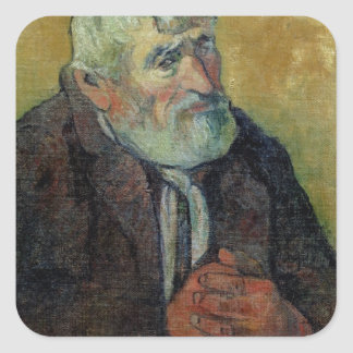Portrait of an Old Man with a Stick, 1889-90 Square Sticker