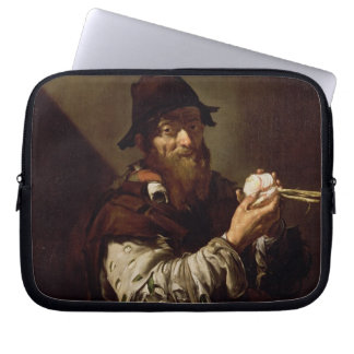 Portrait of an Old Man with an Onion (oil on canva Computer Sleeves