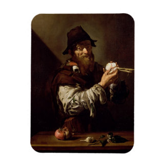 Portrait of an Old Man with an Onion (oil on canva Rectangular Photo Magnet