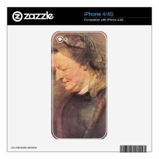 Portrait of an old woman by Paul Rubens Skins For The iPhone 4S