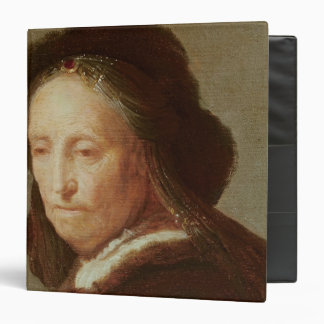 Portrait of an old Woman, c.1600-1700 3 Ring Binder