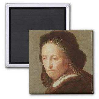 Portrait of an old Woman, c.1600-1700 Magnet