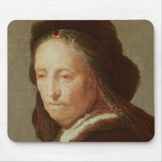 Portrait of an old Woman, c.1600-1700 Mouse Pad