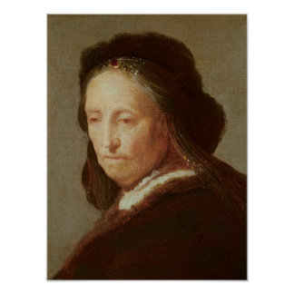 Portrait of an old Woman, c.1600-1700 Poster