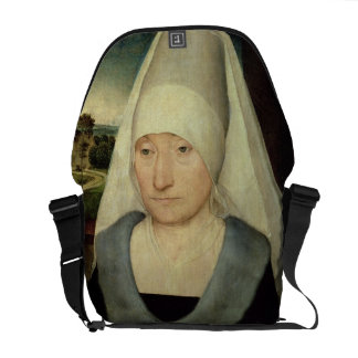 Portrait of an Old Woman (oil on panel) Courier Bag
